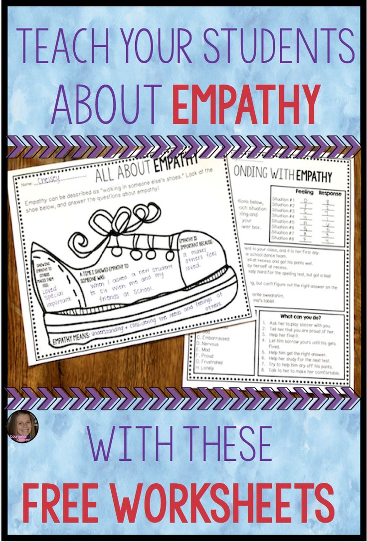 Empathy Worksheets Free Education Ideas Character