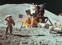 First moon landing - July 1969.