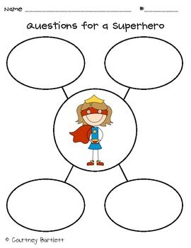 superhero kindergarten worksheet | Sentence Superhero Craft - Swimming into Second - TeachersPayTeachers ...