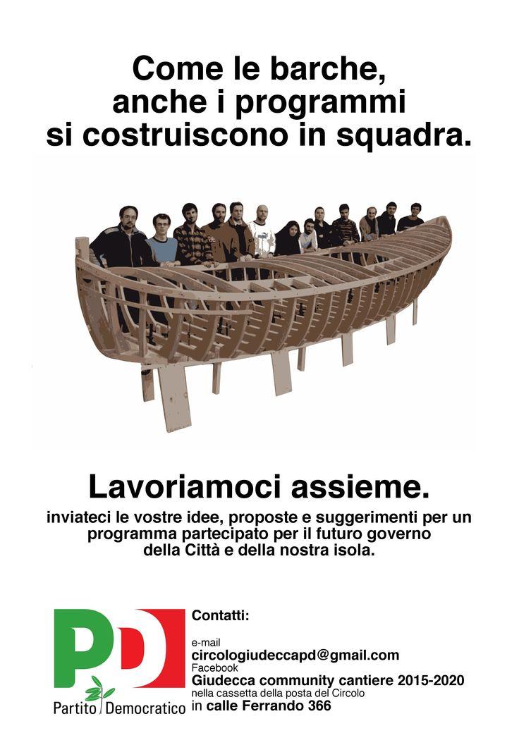 Partito Democratico (Democratic Party) local campaign poster, Venice, 2014