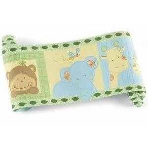 Image detail for -Stick JUNGLE SAFARI ANIMALS WALLPAPER BORDER Baby Nursery Wall Decor
