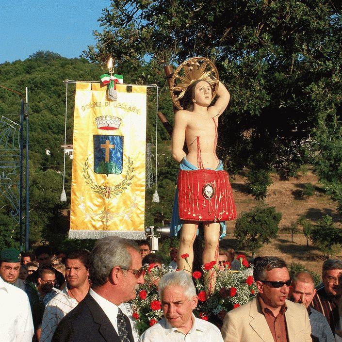 La processione di San Sebastiano a Cellara in Calabria