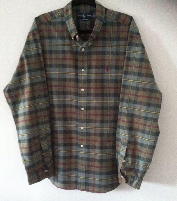 Men Shirt XXL Design By Ralph Lauren #LaurenRalphLauren #ButtonFront