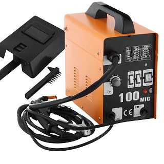 LOVSHARE 100A MIG Welder 230V Gasless MIG Welder Flux Core Wire Automatic Feed Welding Machine NO Gas with Accessories