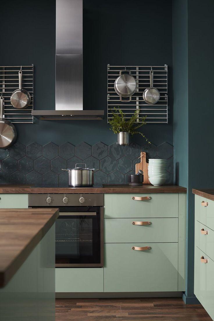 Ikea Catalog 2019 Method Cook Callarp Shutters High Gloss Green Ph151188 In 2020 Trendy Kitchen Tile Interior Design Kitchen Trendy Kitchen Backsplash