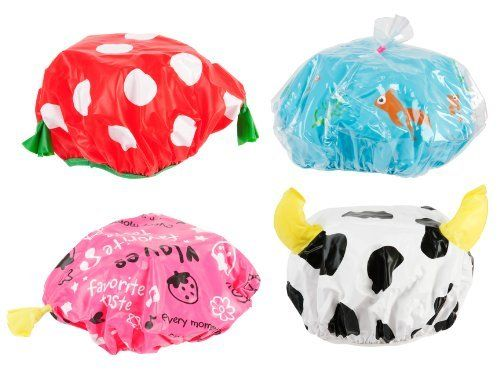 Present Time Silly Funny Shower Cap, Assorted Styles, Red/Black/White/Yellow/Blue/Pink by Present Time. $7.99. Funny shower caps. Great for gift bags or party favors. Available in 4 assorted designs, sorry style cannot be chosen. Bath time just got a lot more fun with these humorous and unique shower caps from silly. Available in four assorted designs, including strawberry, cow, and fish tank. Great for gift bags or party favors. Sold individually. The silly collection consists...