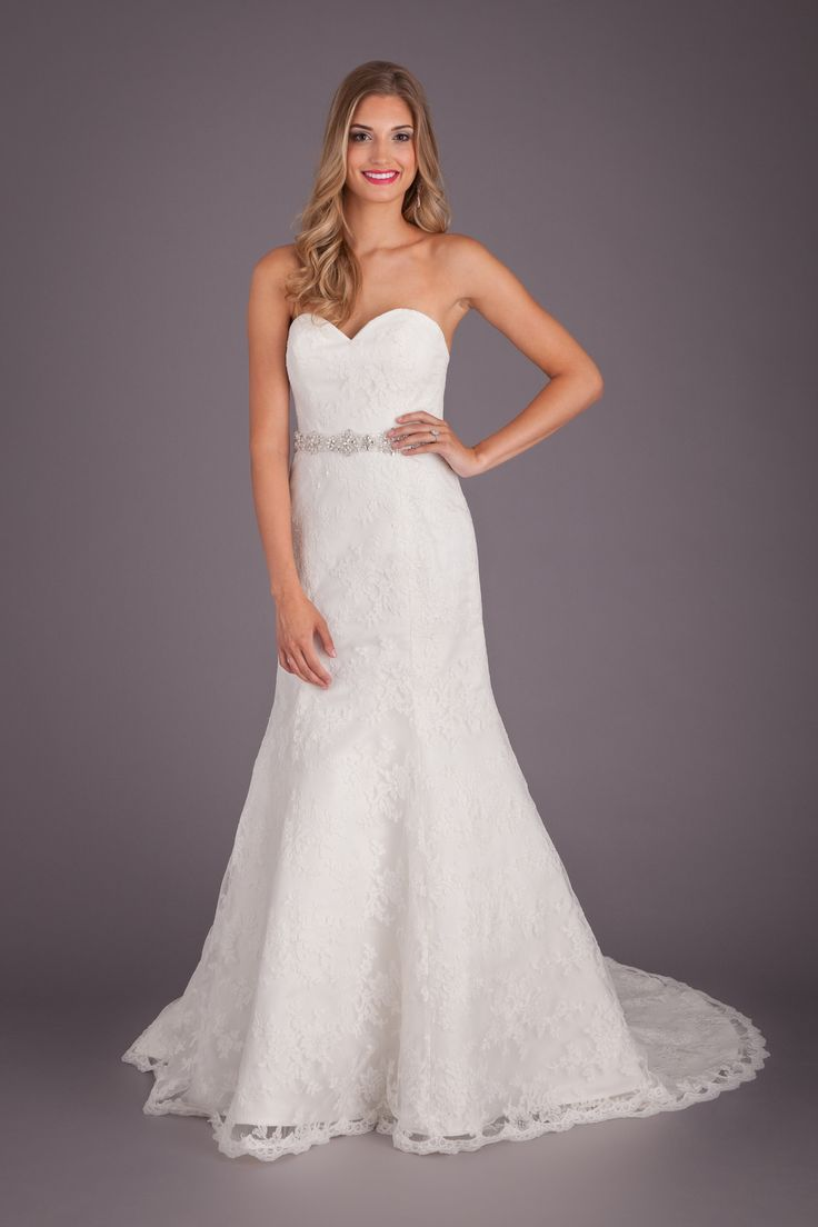 Hayley paige dori wedding dress  Mark Zunino  Sweetheart Mermaid Gown in Lace  Wedding Dresses