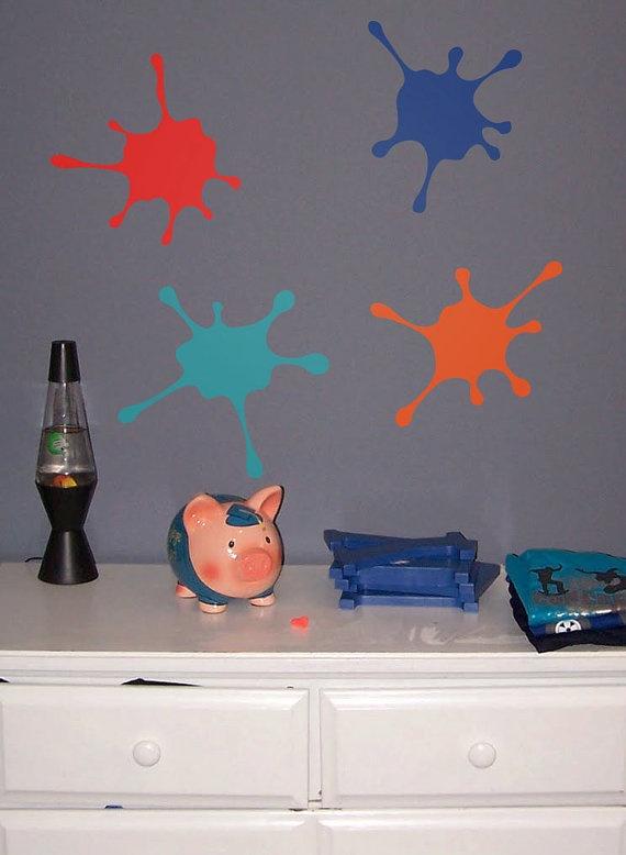 Wall Decal Custom Vinyl Art Stickers  Paint Splatter by danadecals, $25.00