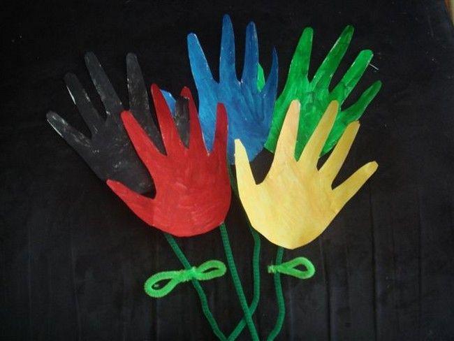 bouquet: Craft Kids, Mothers, Kids Crafts, Hand Crafts, Kids Bible Crafts, Crafts Diy, Kid Crafts, Craft Ideas, Flower