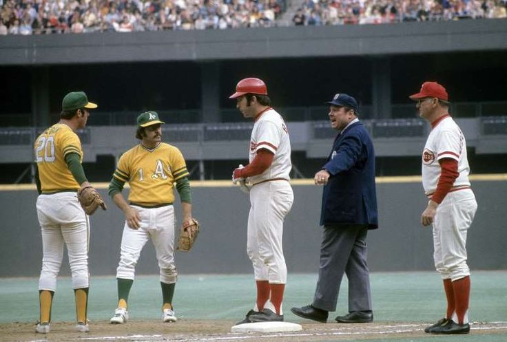 10 most stylish World Series, on and off the field  -  October 20, 2017.  1972: OAKLAND ATHLETICS VS. CINCINNATI REDS  -   The 1970s were very good to both the Oakland A's and the Cincinnati Reds. These two teams had considerable success on the field during that decade, and they also looked very good while doing it. This was arguably Cincy's best look ever, and the A's were one of the most unique-looking teams at the time.