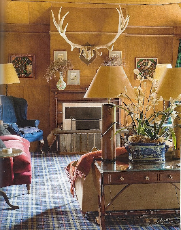 Antique Hunting Lodge Living Room At Drynachen Highland Living Part 40