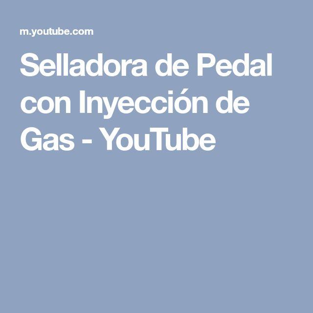 Selladora de Pedal con Inyección de Gas - YouTube