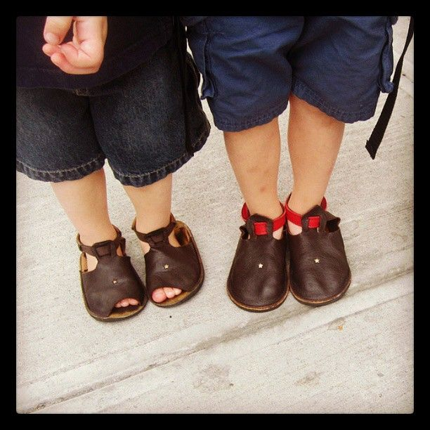 New Soft Star shoes for the first day of school!