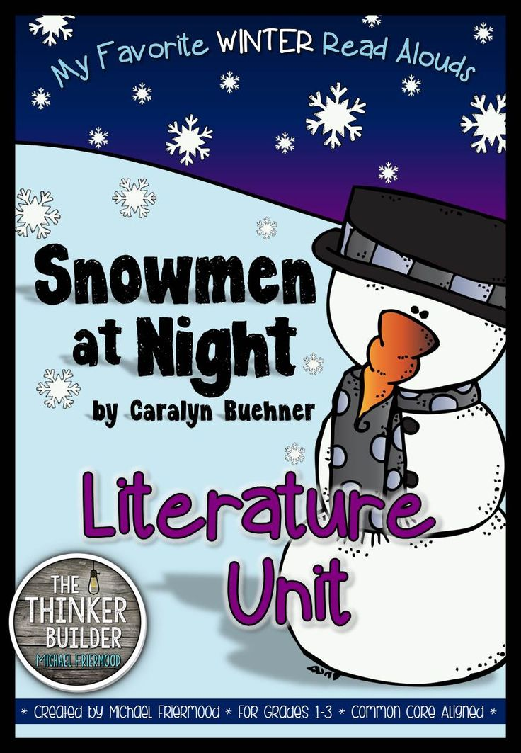 11 best audio book info images on pinterest teaching reading a literature unit for snowmen at night by carolyn buehner fandeluxe