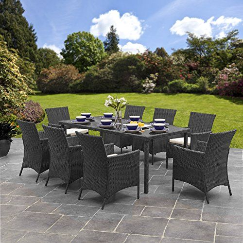 Outdoor rattan table and chairs