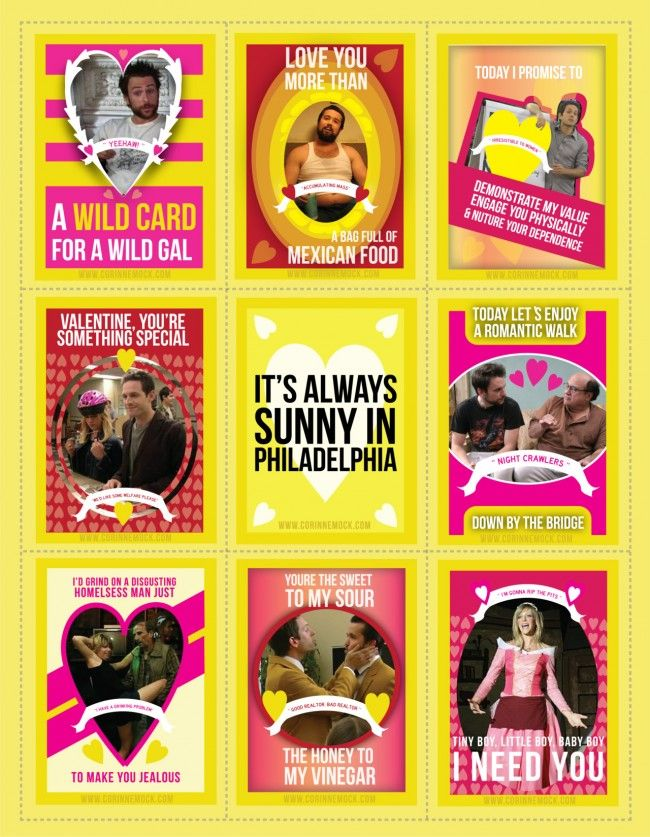 Always Sunny valentines! Must get these for Dave next year!