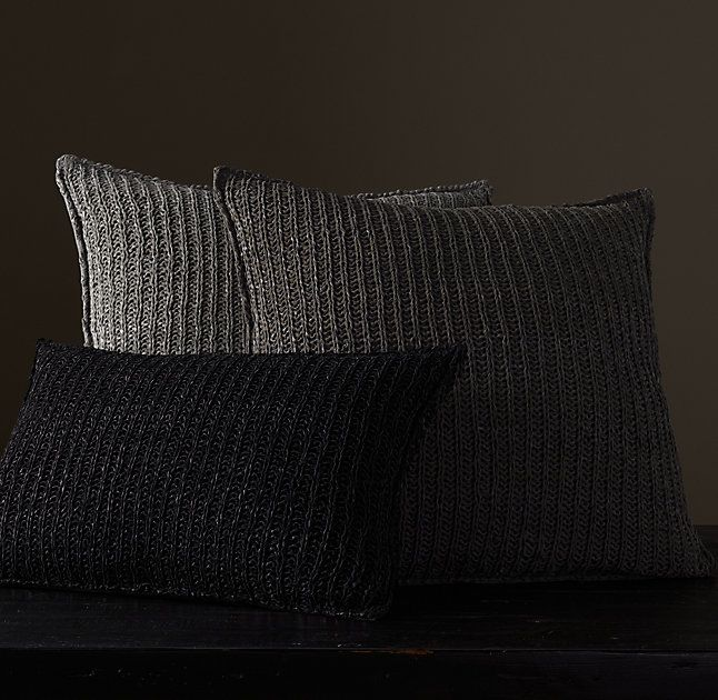 RH's Knit Suede Pillow Cover:Constructed of the finest ...
