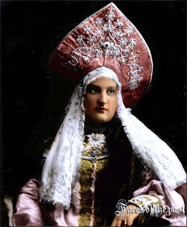Princess A.V, ShCherbatova at the Winter Palace Costume Ball, St. Petersburg, 1903.