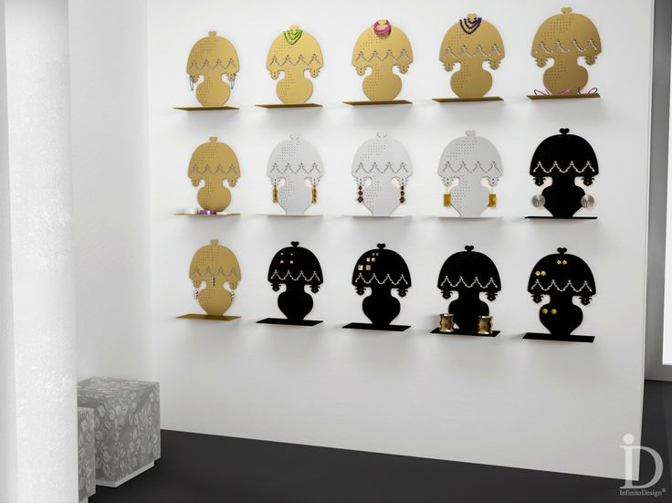 SHOWROOM, NEGOZI, ALLESTIMENTI: design italiano funzionale come mensola, porta-bijoux, lampada, decorare ed arredare.