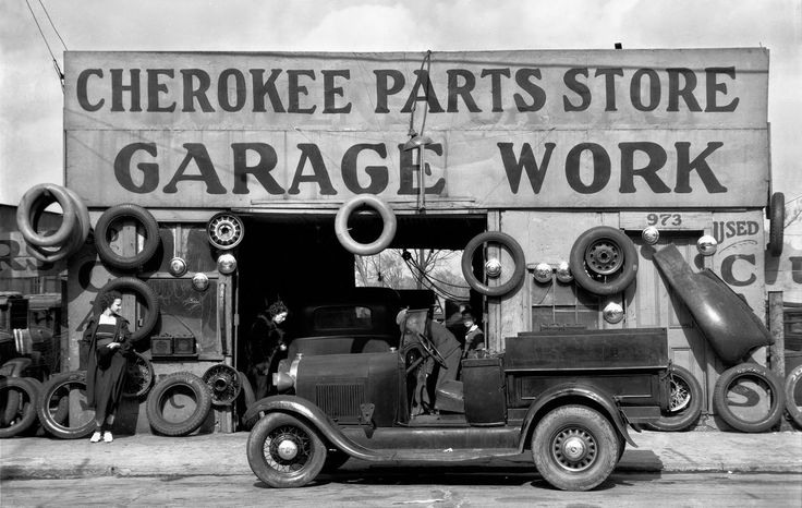 vintage everyday: Auto Parts Shop, Atlanta, Georgia, c.1936