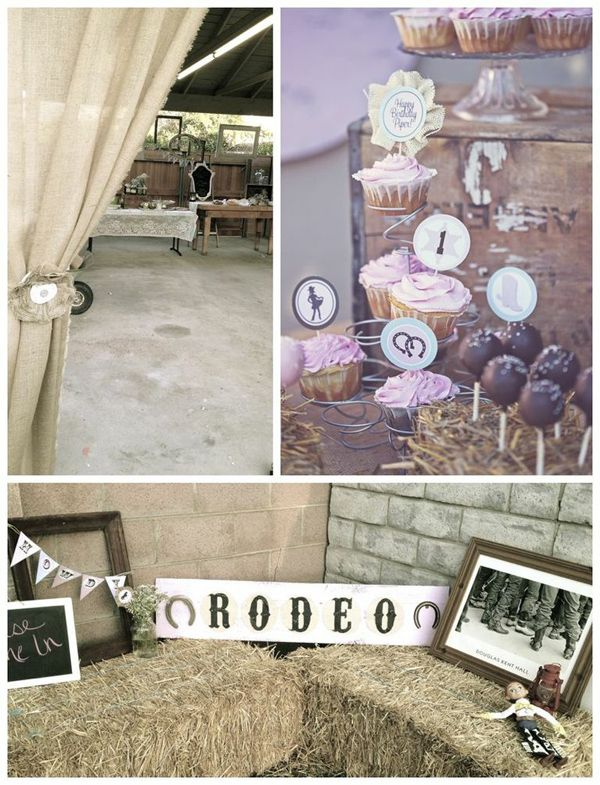 Shabby Chic Cowgirl Birthday Party with LOTS of Cute Ideas via Kara's Party Ideas