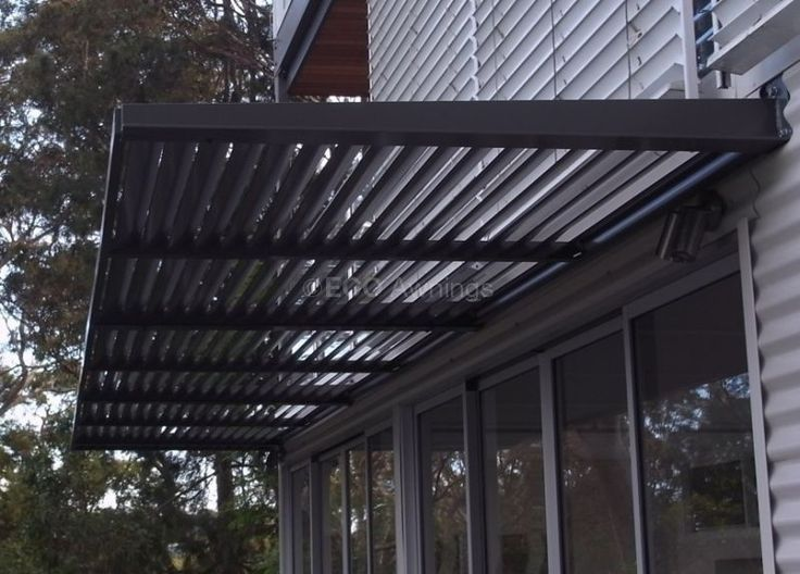 Fixed Louvers Eco Awnings Metal Awning Front Door