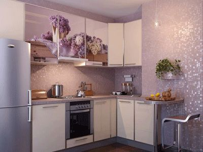 Gray Purple Wall Color | Light purple wall tiles, modern kitchen cabinets decoration