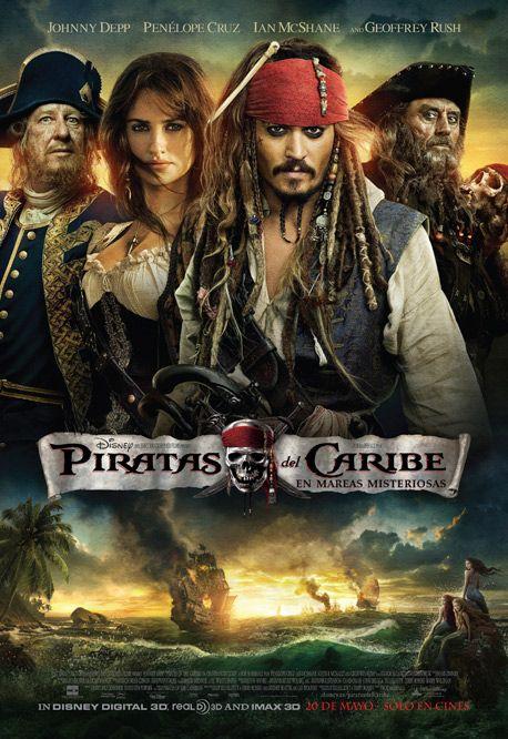"""Cuarta entrega de la saga, """"Piratas del Caribe"""". El capitán Sparrow se cruza con una mujer de su pasado y no está seguro de si lo que ocurre ahora entre ellos es amor… o si ella es una despiadada impostora que le está usando para hallar la famosa Fuente de la Juventud. Cuando esta mujer le obliga a abordar el Queen Anne's Revenge —el barco del terrible pirata Barbanegra—, Jack se encuentra en una inesperada aventura en la que no sabe a quién temerle más."""