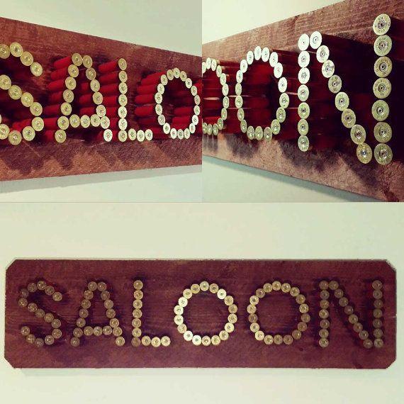 Saloon 12 Gauge Shotgun Shell Sign by USammoart on Etsy, $200.00