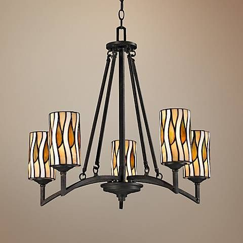 """Candella Collection 26"""" Wide Dale Tiffany Chandelier"""