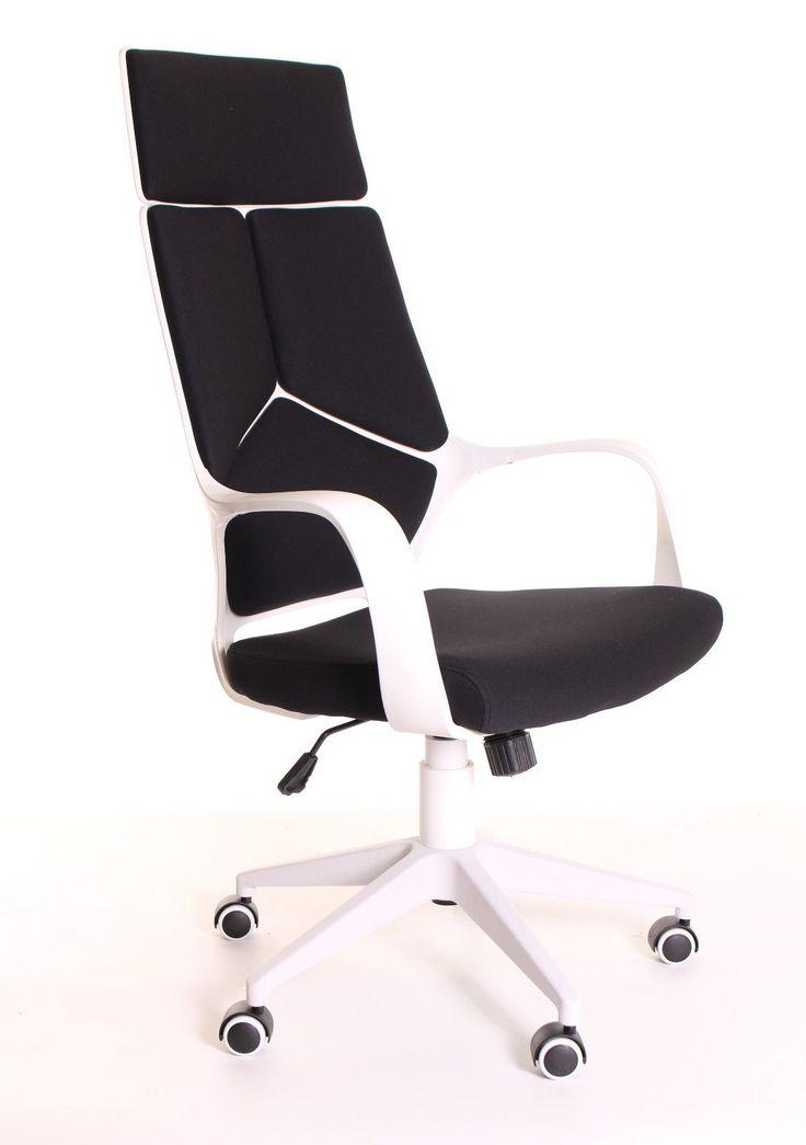 modern ergonomic office chair black white by timeoffice