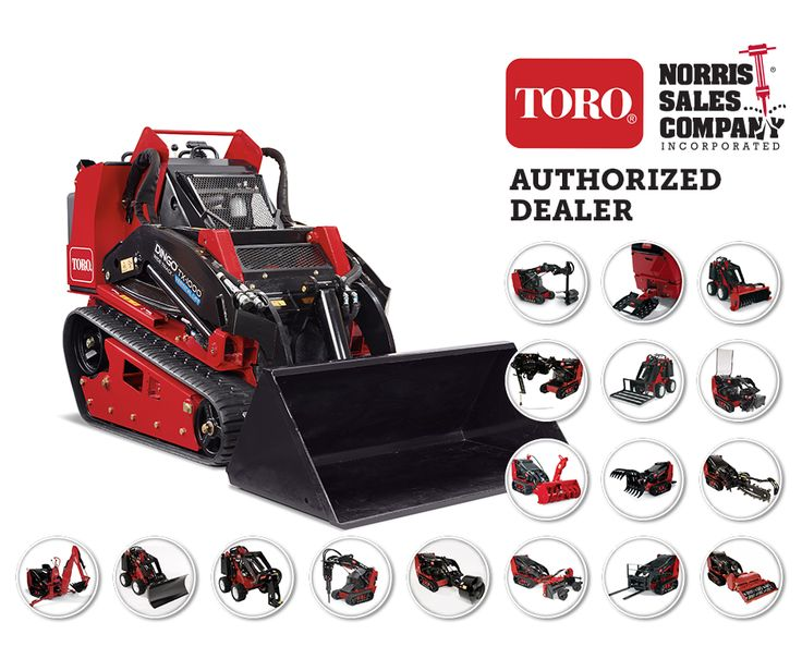 Norris Sales carries 20+ attachments for any heavy-duty Dingo equipment, which includes hydraulic breakers, backhoes, different sized buckets, forks, grapple rakes, soil cultivators, augers and more!  Choose whichever attachment fits best for your needs, bolt it on, and seamlessly transition to working on your next landscaping job.