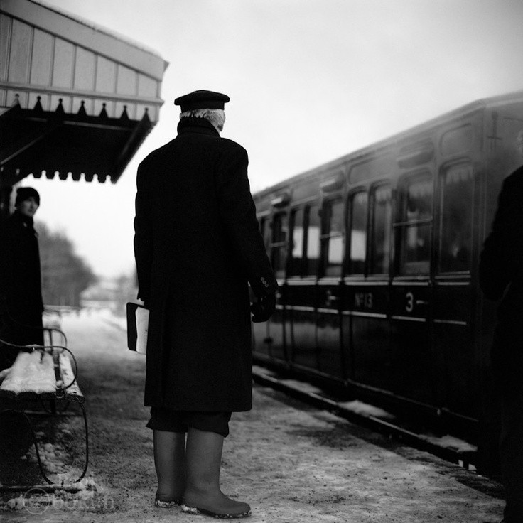 Saatchi art edition railway guard mid suffolk light railway photography by paul cooklin find this pin and more on black and white fine art film