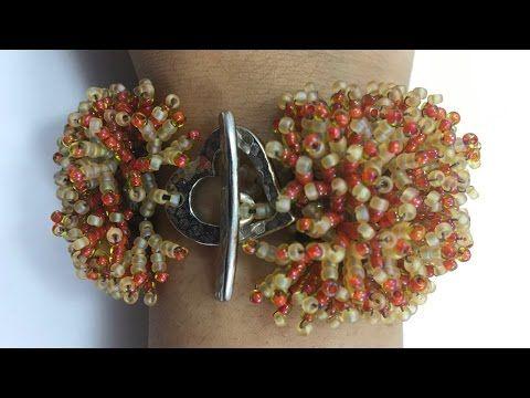 Coral Flower Bracelet _ Seed Bead Tutorials