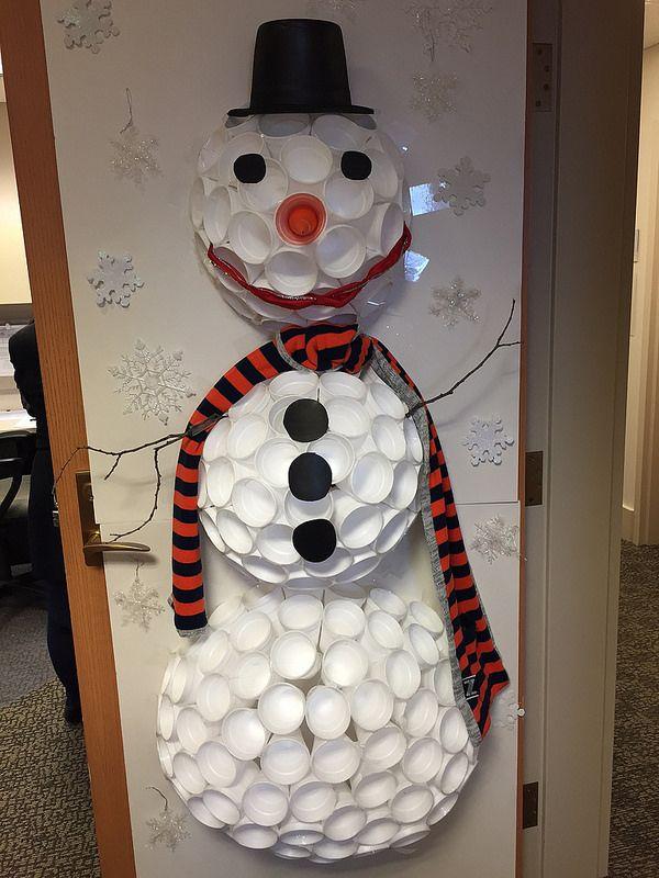 2014 UC Door Number 7 LOVE the exemplary use of Styrofoam cups! So creative! & 16 best UC Holiday Doors images on Pinterest | Door numbers Fiesta ...