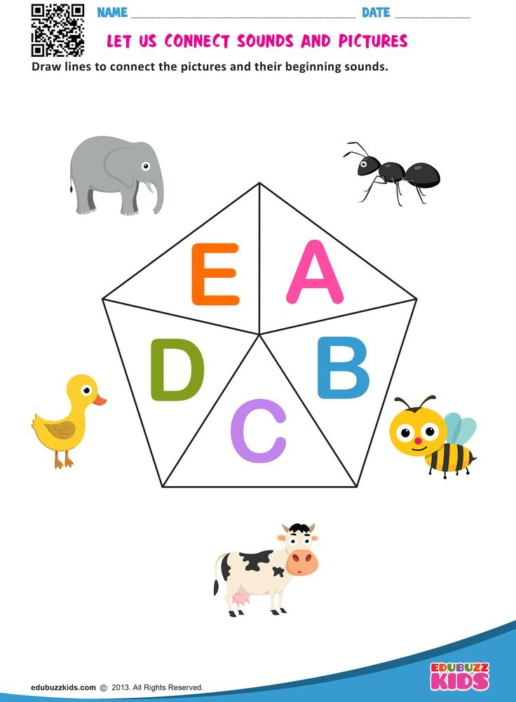 LET US CONNECT SOUNDS AND PICTURES Alphabet worksheets