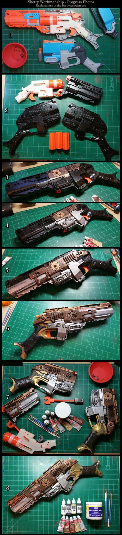 Steampunk Sledgefire - Painting Tutorial by CaelynTek.deviantart.com on @DeviantArt