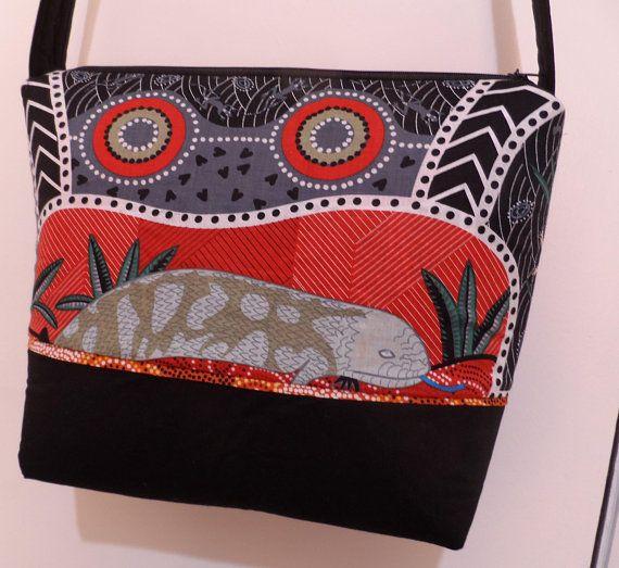 Shoulder Bag Australian Aboriginal Prints  Handmade Bag