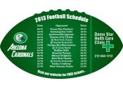 4x7 in One Team Arizona Cardinals Football Schedule