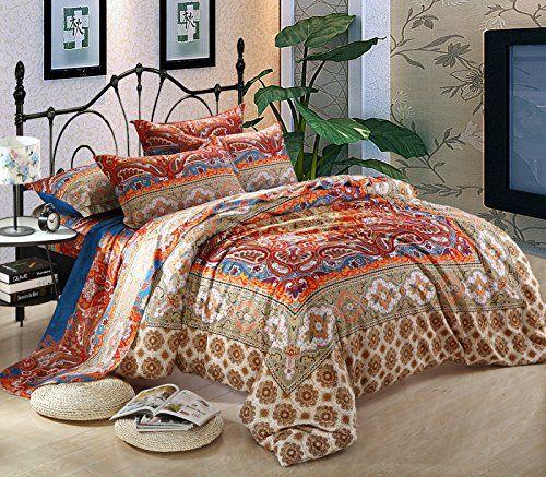 Cliab Moroccan Bedding Bohemian Bedding Sets Full/Queen Egyptian Cotton Duvet Cover set