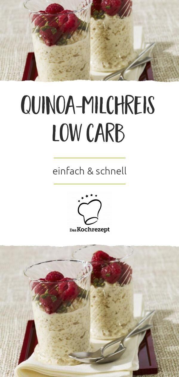 Der Low-Carb-Quinoa-Milchreis ist schnell noch besser als das Original! Er ist einf …  – Quinoa Rezepte