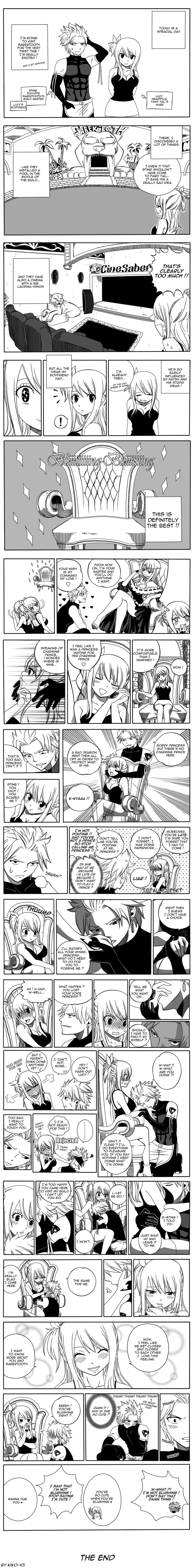 Special day, Lucy visits Sabertooth [Sting x Lucy] by Kiko-x3.deviantart.com on @DeviantArt