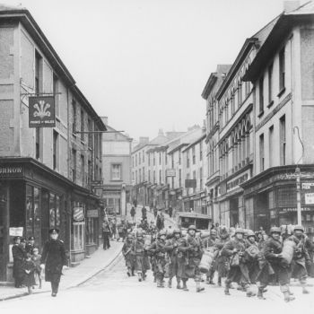 Troops in Falmouth preparing for the D-Day landings