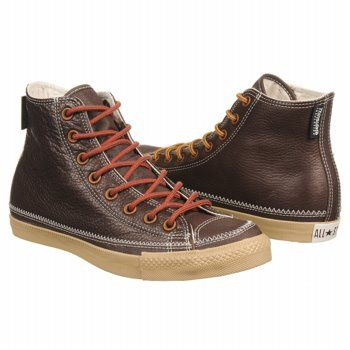 brown leather converse high top