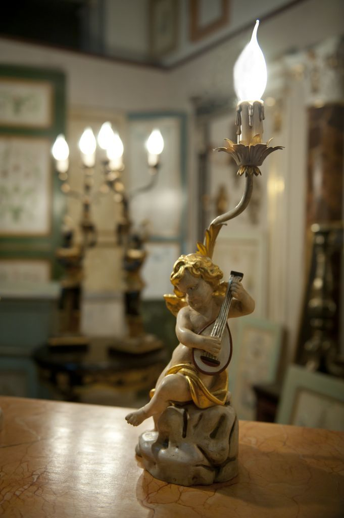 """""""ANGELS"""". Carved wood, pure gold leaf gilt, laquered with natural pigments."""