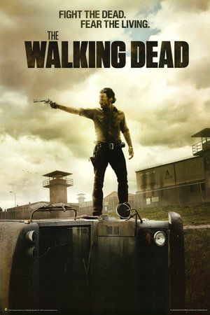 Walking Dead Fear the Living Zombie TV Poster (24 x 36 inches)