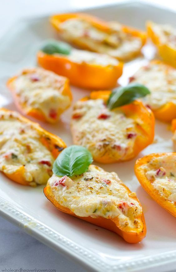 Stuffed with three different kinds of cheese and lots of pimentos, these addicting sweet pepper poppers are going to make you the most popular person at the party!