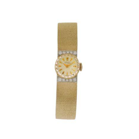 Women's Vintage 14K Yellow Gold & Diamond Girard Perregaux Dress Watch. For details: http://www.palisadejewelers.com/portfolio/vintage-2/