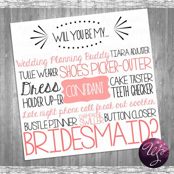 "Bridesmaid Proposal Cards - ""Cake Tasting (Printable File Only) Ask Bridesmaid Be In My Wedding"