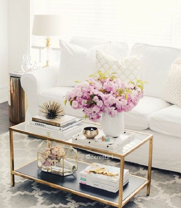 How To Style A Glass Top Coffee Table